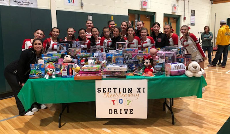 Varsity Cheerleaders Donate Toys to Children's Hospital